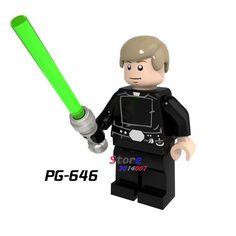 1Pcs Star wars Darth Vader Han Solo R2-D2 BB-8 clone trooper Stormtrooper Ewok action figure building blocks toys for children