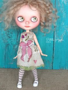 Blythe doll outfit OOAK Field trip 1955 grungy-chic by Marinart