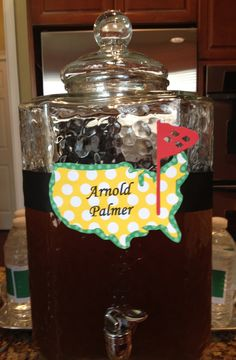 golf theme wedding ideas | Then into the kitchen for the golf themed beverages! These are amazing ...