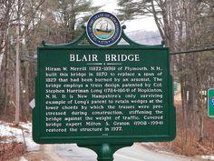 Blair Bridge marker, Campton, NH