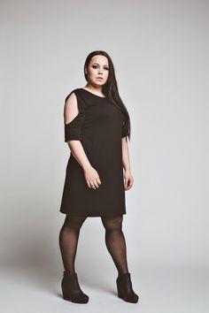 sukienki-Sukienka Mrs. Black Dress oversized  casual black tunic