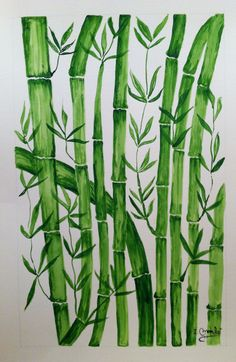 Isabel Monfort. Bambu Stencil Designs, Paint Designs, Mixed Media Boxes, Bamboo Art, Bamboo Design, China Art, Wallpaper Pictures, Leaf Art, Art Background