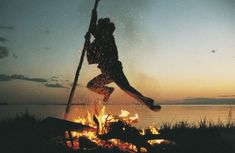 Jumping the fire from Old Estonian traditions of Summer Solstice