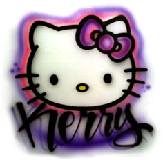Hello Kitty no.2 airbrushed tshirt Adult and by StreaksandBlurs, $12.00