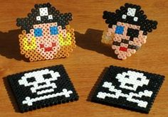 Smaller pirate projects with Perler beads.