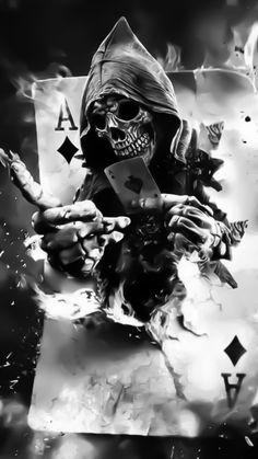Creepy Art by Mariano Villalba Would make an awesome tattoo. Dark Fantasy Art, Fantasy Kunst, Dark Art, Skull Tattoos, Body Art Tattoos, Sleeve Tattoos, Great Tattoos, Art Sinistre, Street Art