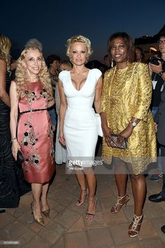 Franca Sozzani, Pamela Anderson and Executive Director of the United Nations World Food Programme Ertharin Cousin attend the 60th Taormina Film Fest on June 15, 2014 in Taormina, Italy.