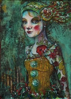 Circus Performer Fine Art Reproduction On door MariaPaceWynters