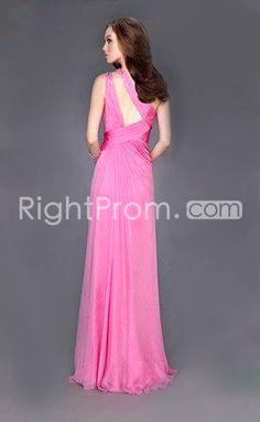 Nice+Empire+One+Shoulder+Floor-length+A-Line+Evening+Dress