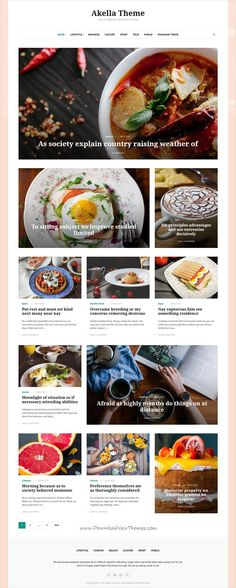 Akella is clean, stylish and modern design design responsive WordPress theme for #food / #recipe blog and magazine website with 60+ layout variations download now #webdesign