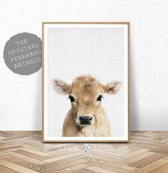 Koe Print Baby landbouwhuisdieren, kalf, boerderij kwekerij Wall Art Decor, afdrukbare digitale Download, Poster, slaapkamer van de Baby, Kids slaapkamer Decor