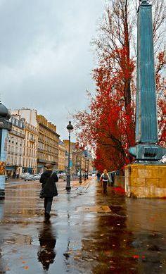 Rainy autumn in Paris.