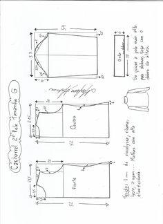 Blouse Esquema de modelagem de Blusa cacharrel segunda pele de malha tamanho G.