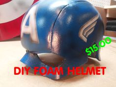 HOW TO MAKE A FOAM CAPTAIN AMERICA HELMET. FOR ABOUT $15.00 YOU CAN FIND THE PLANS HERE dali-lomo.blogspot.com https://www.facebook.com/RawKustoms.Roppolo ht...