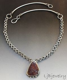 Matra Mountain Cabochon Necklace by LauraBouton, via Flickr