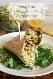 If you can get past the wordy intro, the recipe looks awesome.   I love wraps!
