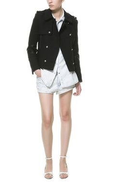 Image 1 of FAUX LEATHER COMBINATION JACKET from Zara