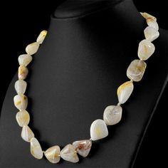 Buy gemstone jewelry on gemsmore.com http://www.gemsmore.com/products/women-jewellery-golden-rutile-quartz-necklace-natural-untreated-beads?utm_campaign=social_autopilot&utm_source=pin&utm_medium=pin
