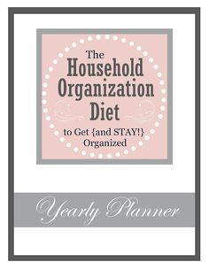 Clean & Scentsible: The Household Organization Diet - Creating a Binder