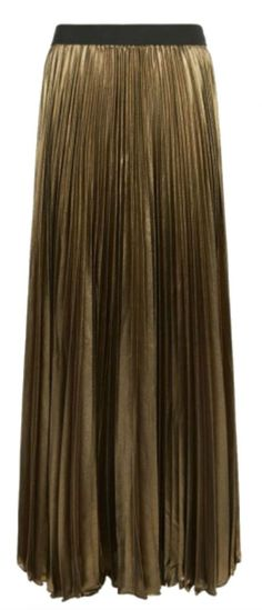 dallas pleated metallic maxi skirt bcbgmaxazria at harrods