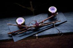 Pizarra, vara de sarmiento... mermelada de uva mencía.