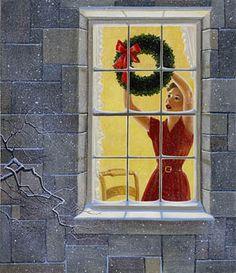 Festive Wreath ~ by Charlotte Joan Sternberg