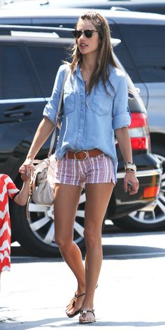 click to shop Alessandra Ambrosio's entire outfit