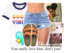 """""""Speed it up I see you want to test my 'Rarri⛽"""" by baby-wavy ❤ liked on Polyvore featuring Casetify and Birkenstock"""