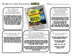 Teachers Pay Teachers Sale starts 5/7! Problem-Solving Using Digital Photography: The Math Cam Template