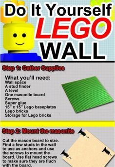 lego wall art | wall of Legos could prove to be live 3D pixel art.