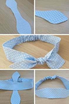 Diy Hair Scrunchies, Diy Hair Bows, Diy Bow, Sewing Hacks, Sewing Tutorials, Sewing Patterns, Fabric Crafts, Sewing Crafts, Sewing Projects