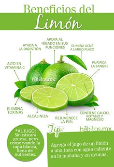 Beneficios del Limón .. fuente: Habitos.mx