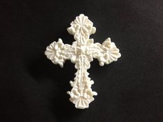 Fondant edible Cross cake topper by evynisscaketopper on Etsy Cross Cakes, Fondant Cake Toppers, Christening, Awesome, Handmade, Faith, Etsy, Ideas, Hand Made
