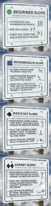 ski signs: could do these with different things around the party