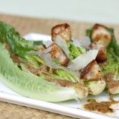 Caesar salad with young romaine and chili-spiced croutons — food & style