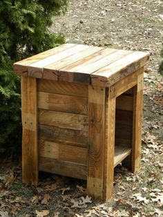 barn board night stands   night stand   Reclaimed Pallet Wood, End Table, Sofa Table, Night ...