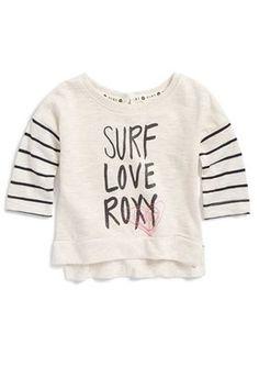 Roxy 'Surf Love' Graphic Tee (Baby Girls)