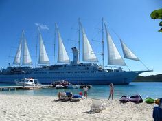 Windstar Cruises- Wind Surf (sailing vessel) GT, Capacity of 386 passengers Cruise Travel, Cruise Vacation, Vacations, Small Ship Cruises, Luxury Cruise Lines, Yacht Cruises, Sailing Cruises, Best Cruise Ships, Private Yacht