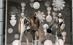 Diseño de escaparates de Navidad en color blancoDecofilia.com