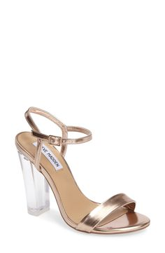 Steve Madden Vallery Clear Heeled Sandal (Women) available at #Nordstrom