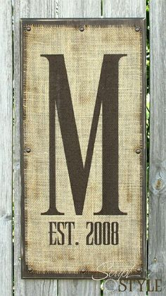 burlap yard sign