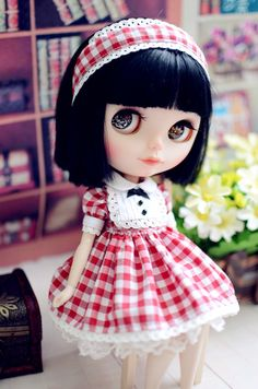 1 : 6 Scale Blythe Check Print Dresses | Doll Apparel | Doll Fashion | Doll Dress | Blythe Outfit by DollyHoly on Etsy