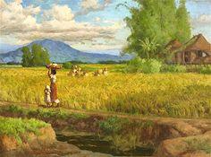 Mountain paintings: MOUNT PINATUBO PAINTED BY FERNANDO AMORSOLO