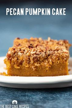 Jazz up a boxed cake mix for an amazingly easy pumpkin pie cake that your family will love! Topped with brown sugar and pecans, every bite is a pumpkin spice dream.