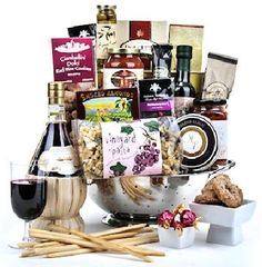 The Rome Fiesta gift basket features a satisfying collection of Italian delicacies presented in a colander. View product details for complete description. Wine Gift Baskets, Gourmet Gift Baskets, Gourmet Food Gifts, Gourmet Recipes, Mothers Day Baskets, Rome, Gift Wrapping, Dinner, Tableware