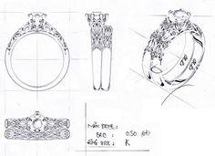 jewellery design sketches filigree - Google Search