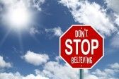 Don t stop believing stop sign