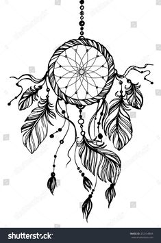 Illustration about Dream catcher, traditional native american indian symbol. Feathers and beads on white background. Illustration of abstract, fashion, doodle - 66486220 Dream Catcher Drawing, Dream Catcher Tattoo Design, Dream Catcher Vector, Dream Catcher Native American, Native American Indians, Native Indian, Native American Symbols, Atrapasueños Tattoo, Inca Tattoo