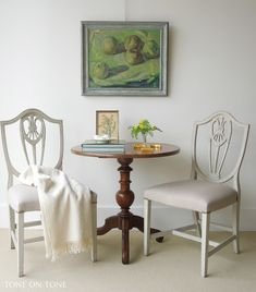 painted white dining