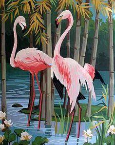 Palmtrees flamingo...